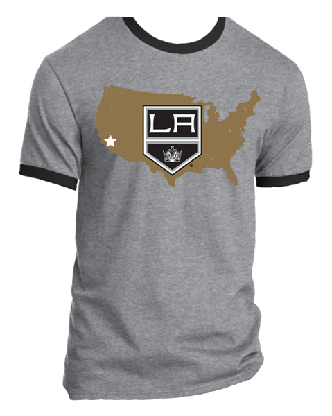 Los Angeles Kings Nationwide 1 CA Star Ringer T-Shirt