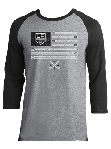Los Angeles Kings Thread Flag Raglan Tee