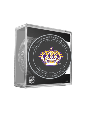 Los Angeles Kings 50th Rogie Vachon On Ice Puck in Cube