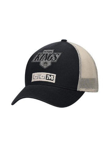 LA Kings CCM Distressed Logo Meshback Snapback Cap