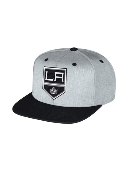 Los Angeles Kings Face Off Cross Stitch Logo Snapback Cap