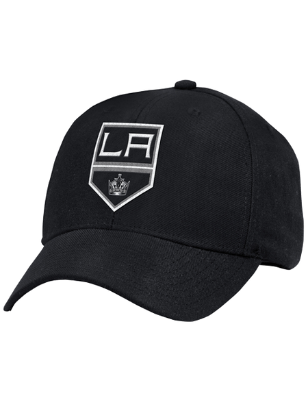 Los Angeles Kings Basic Shield Structured Adjustable Cap - Black