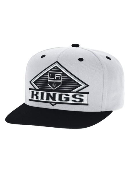 Los Angeles Kings Two Tone Retro Diamond Snapback Cap