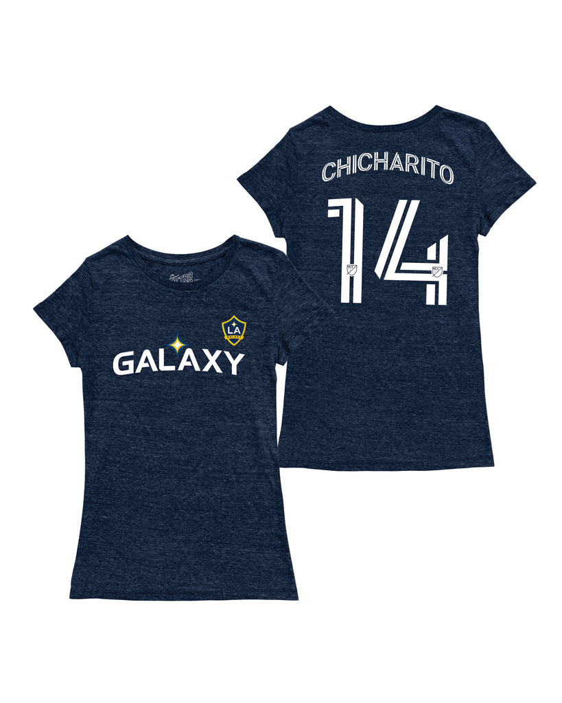 LA GALAXY ORIGINAL RETRO BRAND JAVIER CHICHARITO WOMENS NAME AND NUMBER T