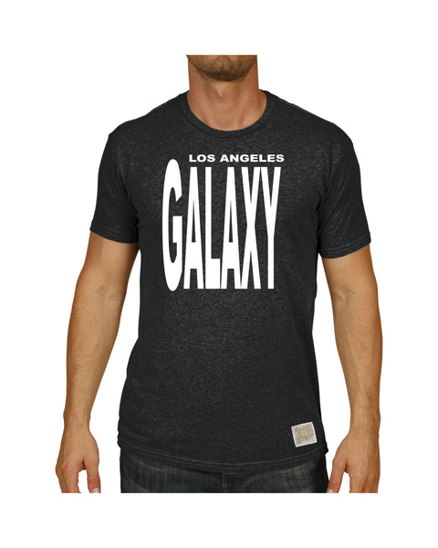 LA GALAXY ORIGINAL RETRO 96 BLACK GALAXY SHORT SLEEVE T SHIRT