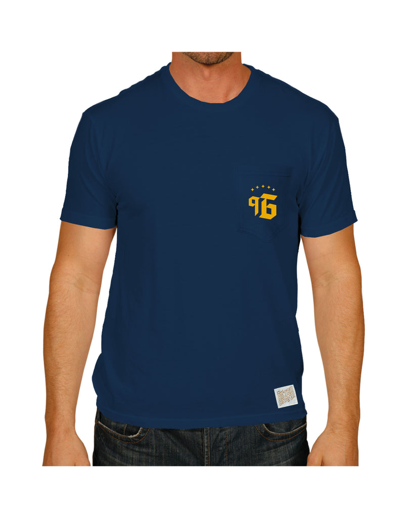 LA GALAXY ORIGINAL RETRO NINETY 6 SHORT SLEEVE NAVY T SHIRT