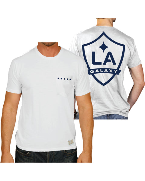 LA GALAXY ORIGINAL RETRO WHITE BIG GALAXY LOGO T SHIRT