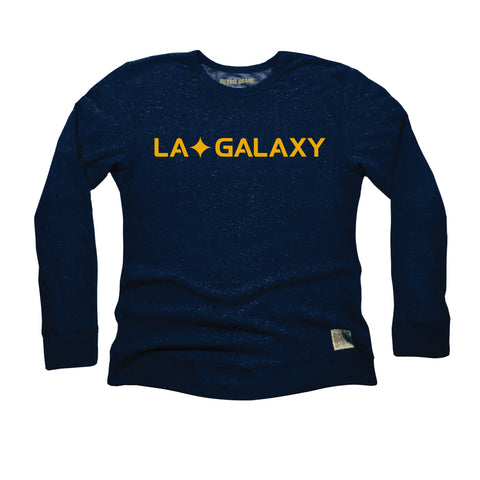 LA GALAXY ORIGINAL RETRO LA QUASAR GALAXY NAVY CREW FLEECE
