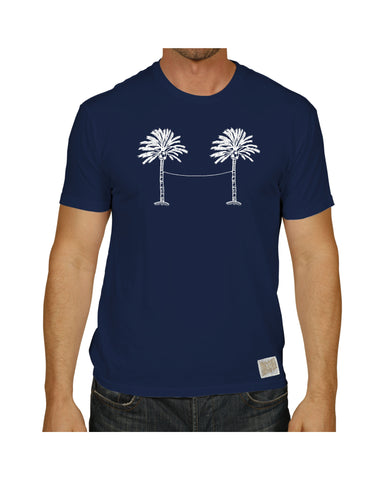 LA GALAXY ORIGINAL RETRO NAVY RETRO PALM TREE GOAL T