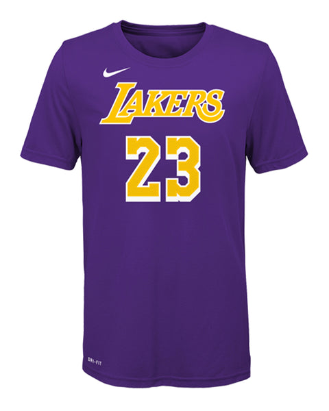 Los Angeles Lakers Youth LeBron James Statement Edition Player T-Shirt