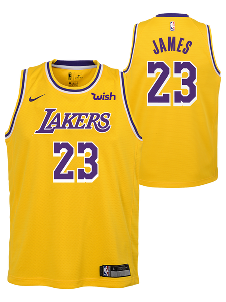 2cc2fa4d8 canada los angeles lakers youth lebron james icon edition swingman jersey  8b997 b2dfe