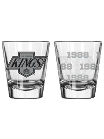 LA Kings 50th Anniversary 2oz Chevron Shot Glass