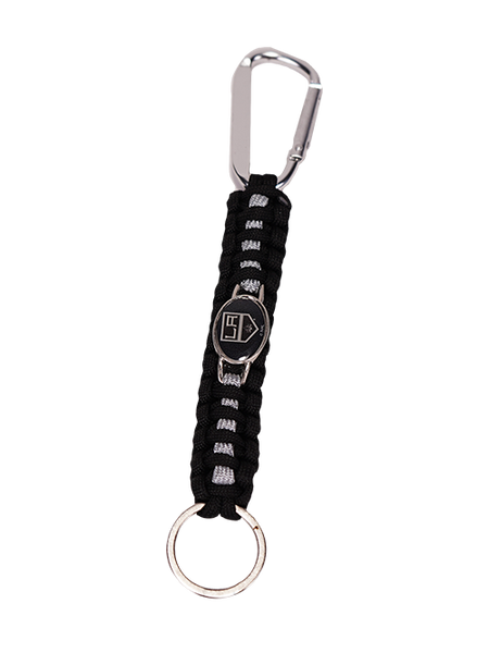 LA Kings Paracord Carabiner Keychain - Black