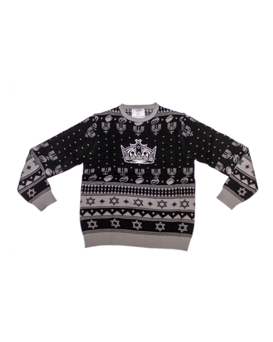 LA Kings Hanukkah Ugly Knit Sweater