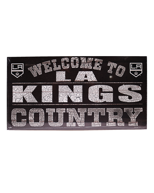 LA Kings Country 13x24 Wood Sign