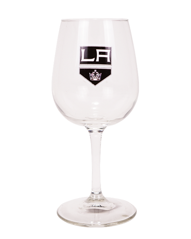 LA Kings Stemmed Wine Glass