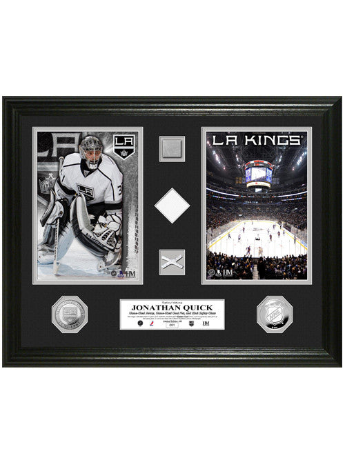 LA Kings Jonathan Quick Duo Game-Used Photomint