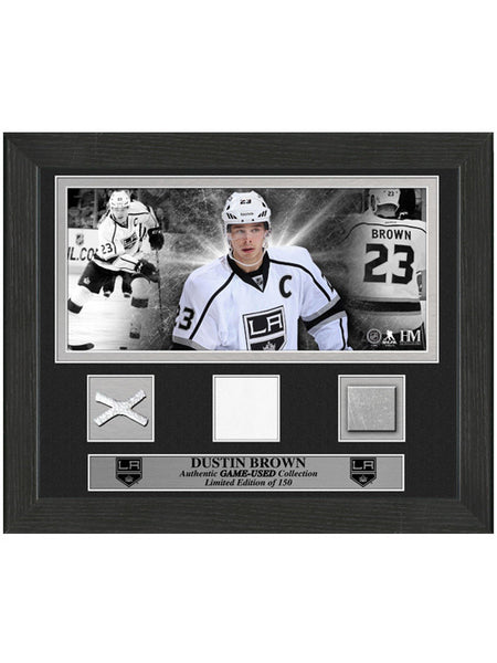 Los Angeles Kings Dustin Brown Game-Used Desktop Frame
