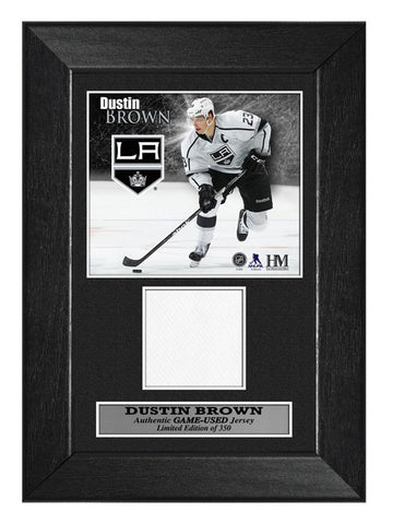 Los Angeles Kings Dustin Brown Game-Used Mini Frame