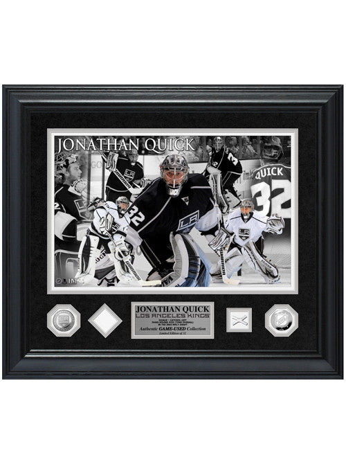 LA Kings Jonathan Quick Game-Used Special Edition Photomint