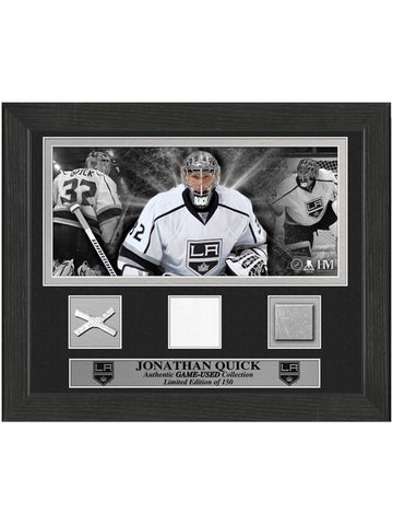 Los Angeles Kings Jonathan Quick Game-Used Desktop Frame