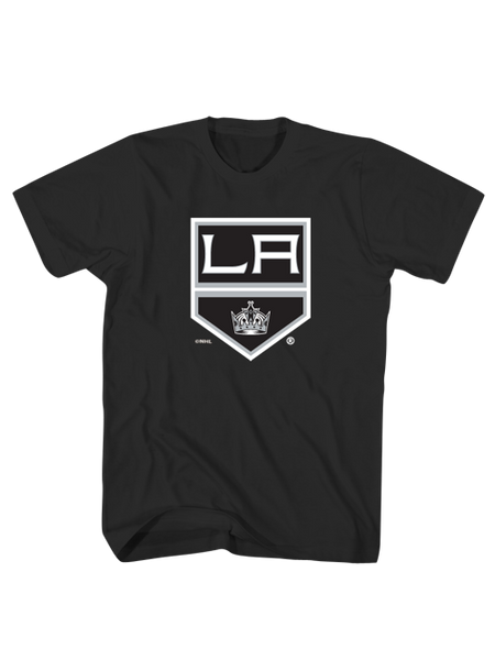 LA Kings Shield Logo Screen Tee - Black