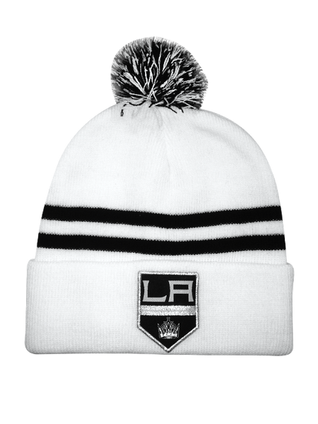 Los Angeles Kings Shield Road Pom Knit Cap