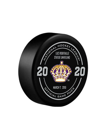 Los Angeles Kings Luc Robitaille Official Commemorative Puck