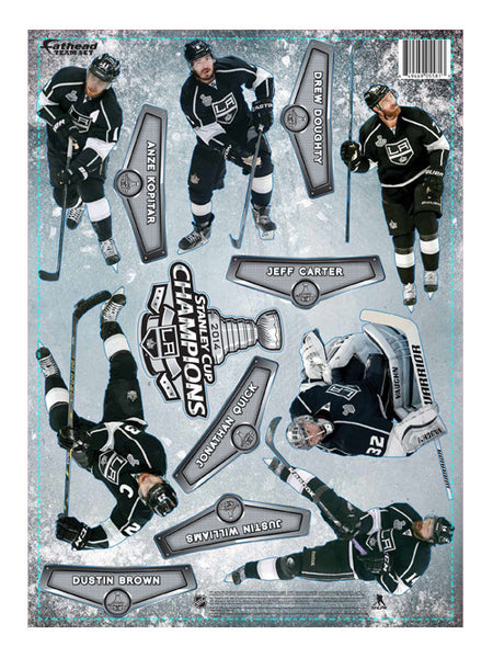 Los Angeles Kings Stanley Cup Champions Player Sticker Sheet