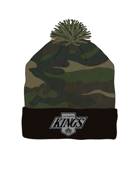 Los Angeles Kings Camo Pom Chevy Knit Hat