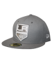 LA Kings New Era 59FIFTY Shield Logo Grey Fitted Cap