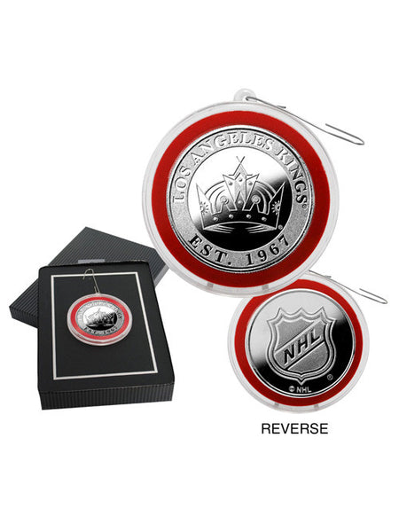 Los Angeles Kings Silver Medallion Ornament