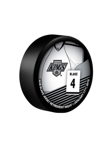 LA Kings Souvenir Rob Blake Retirement Stat Puck