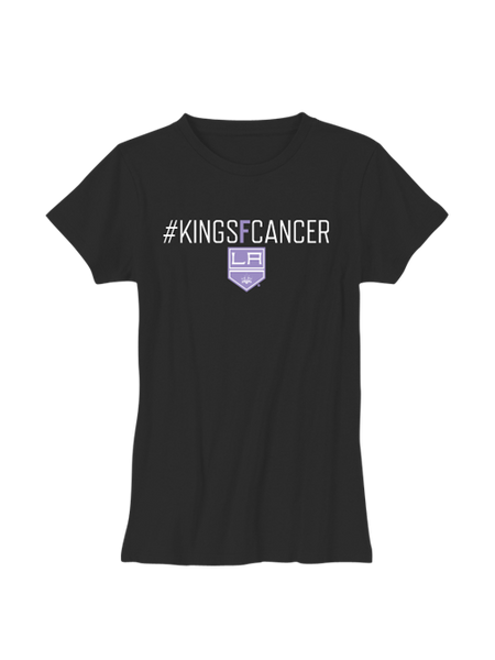 Los Angeles Kings Women's HFC #KINGSFCANCER T-Shirt