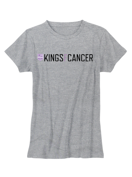 Los Angeles Kings Women's HFC KINGSFCANCER T-Shirt - Grey