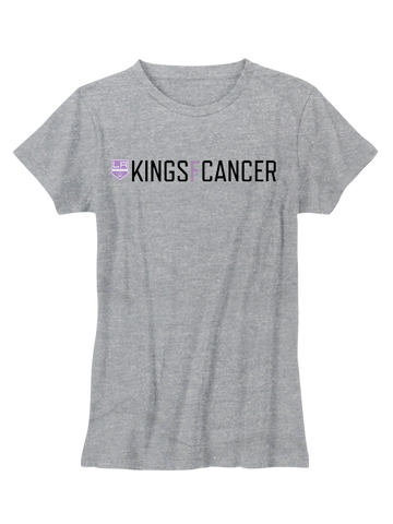 LA Kings Women's HFC KINGSFCANCER T-Shirt - Grey