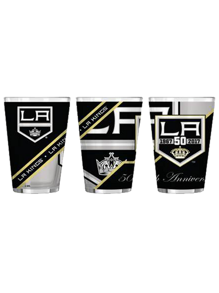 Los Angeles Kings 50th Anniversary 16 oz Pint Glass