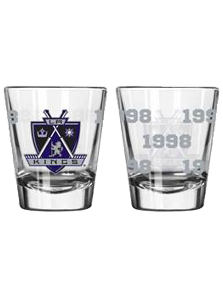 Los Angeles Kings 50th Anniversary 2oz Satin Etch Crest Shot Glass