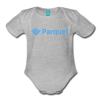 Parquet Organic Onesie - heather gray