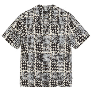 Hand Drawn Houndstooth Shirt Off White