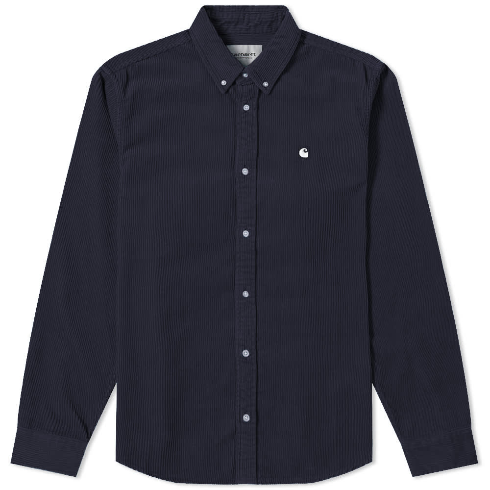L/S Madison Cord Shirt Dark Navy