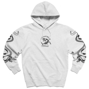 Snake Tattoo Hoodie Heather Grey