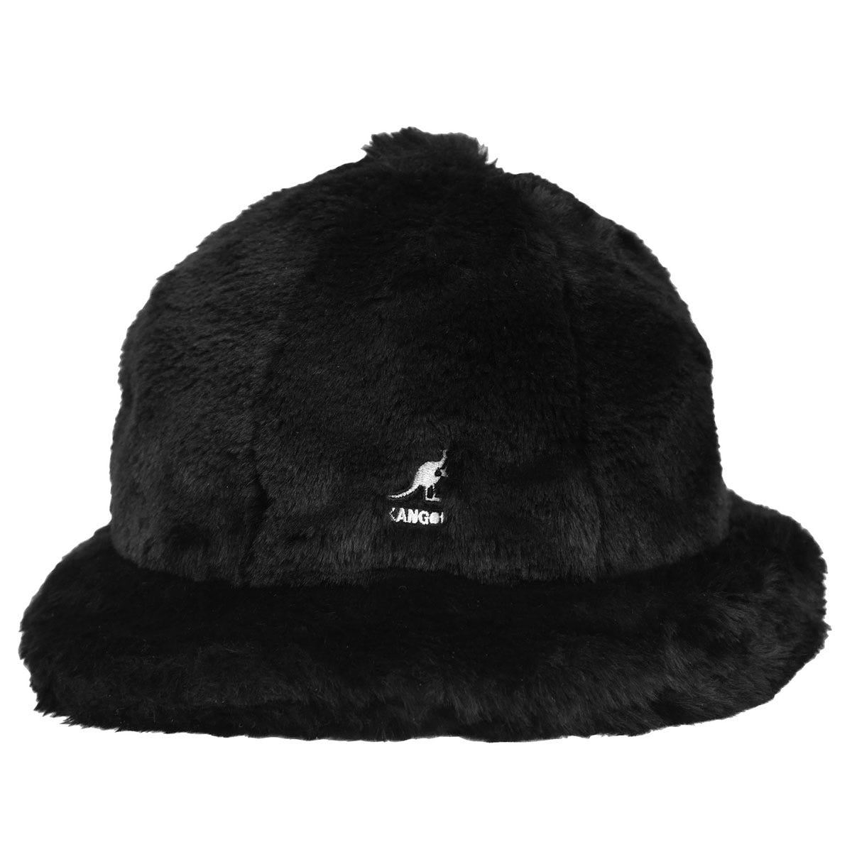 Faux Fur Bucket Solid Black