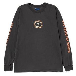 God Loves The Homies L/S Faded Black