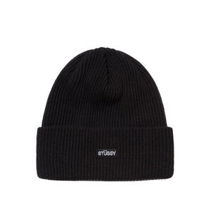 Small Patch Watchcap Beanie Black