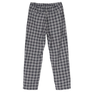 Plaid Linen Bryan Pant Navy