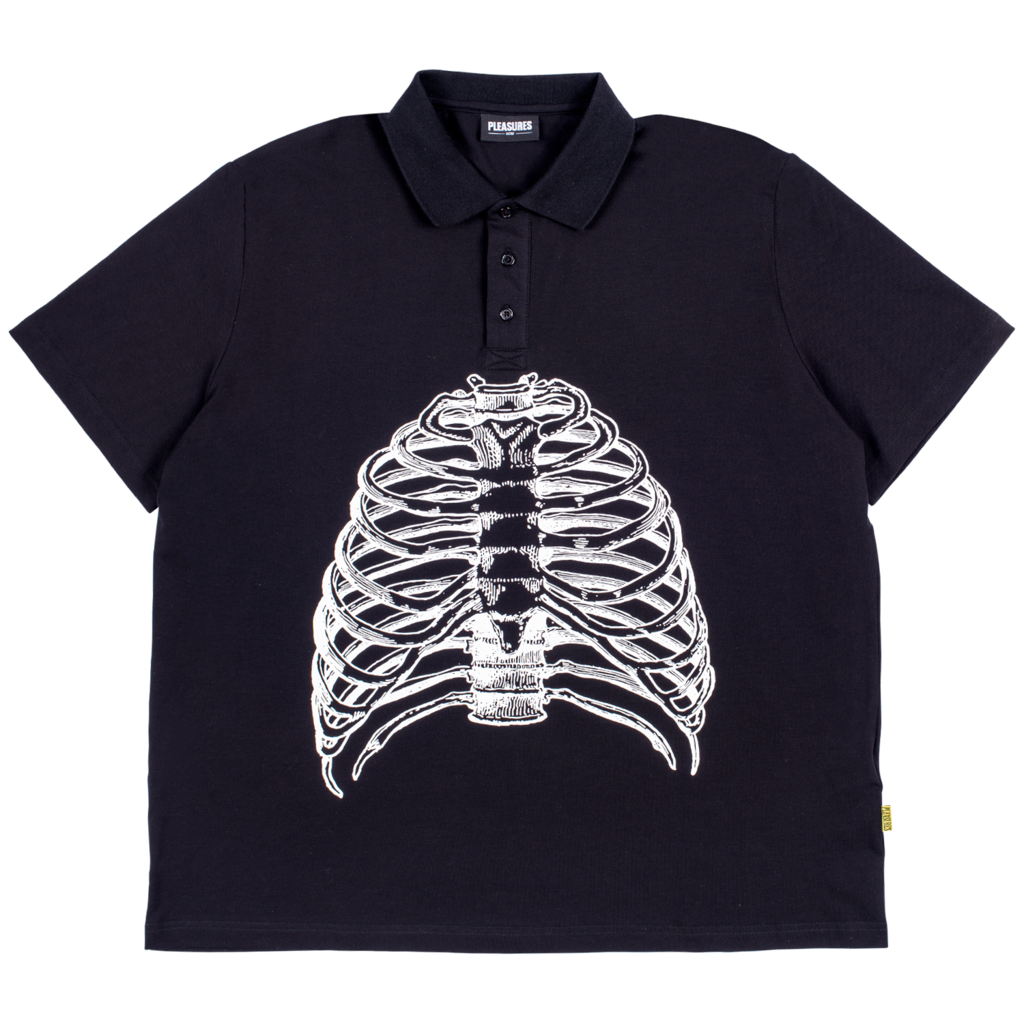 Ribs Polo Shirt Black