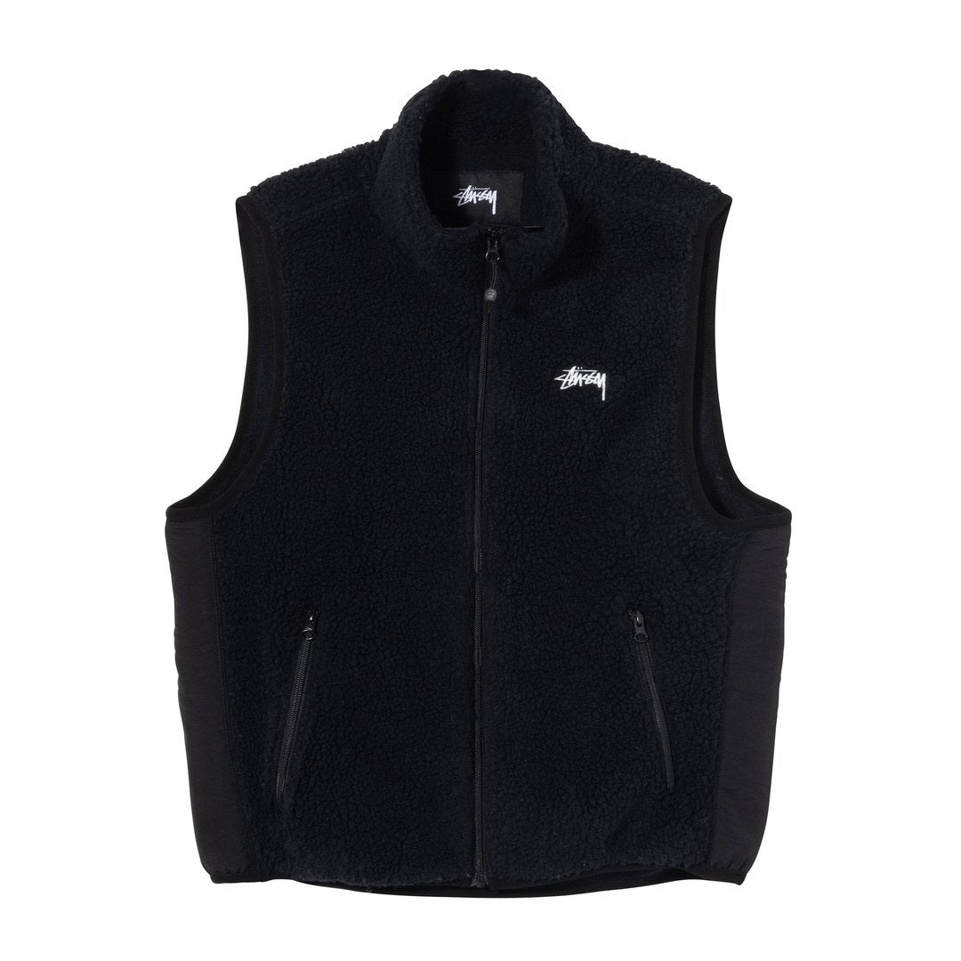 Block Sherpa Vest Black