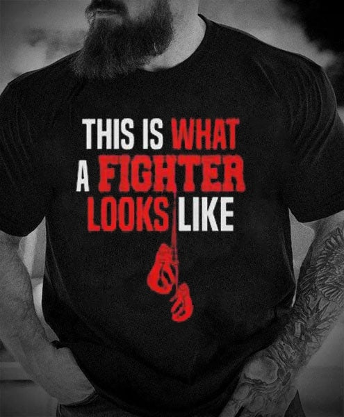 This Is What a Fighter Looks Like – Short Sleeve Boxing Tshirt