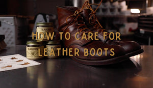 How to care for leather boots using Blackrock